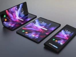 folding Galaxy smartphone