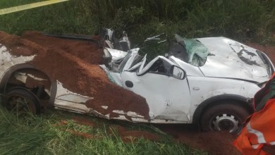 Photo of Bakkie driver crushed by tipper truck