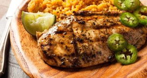 Barbecued marinated chicken