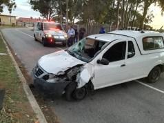 Driver hospitalised
