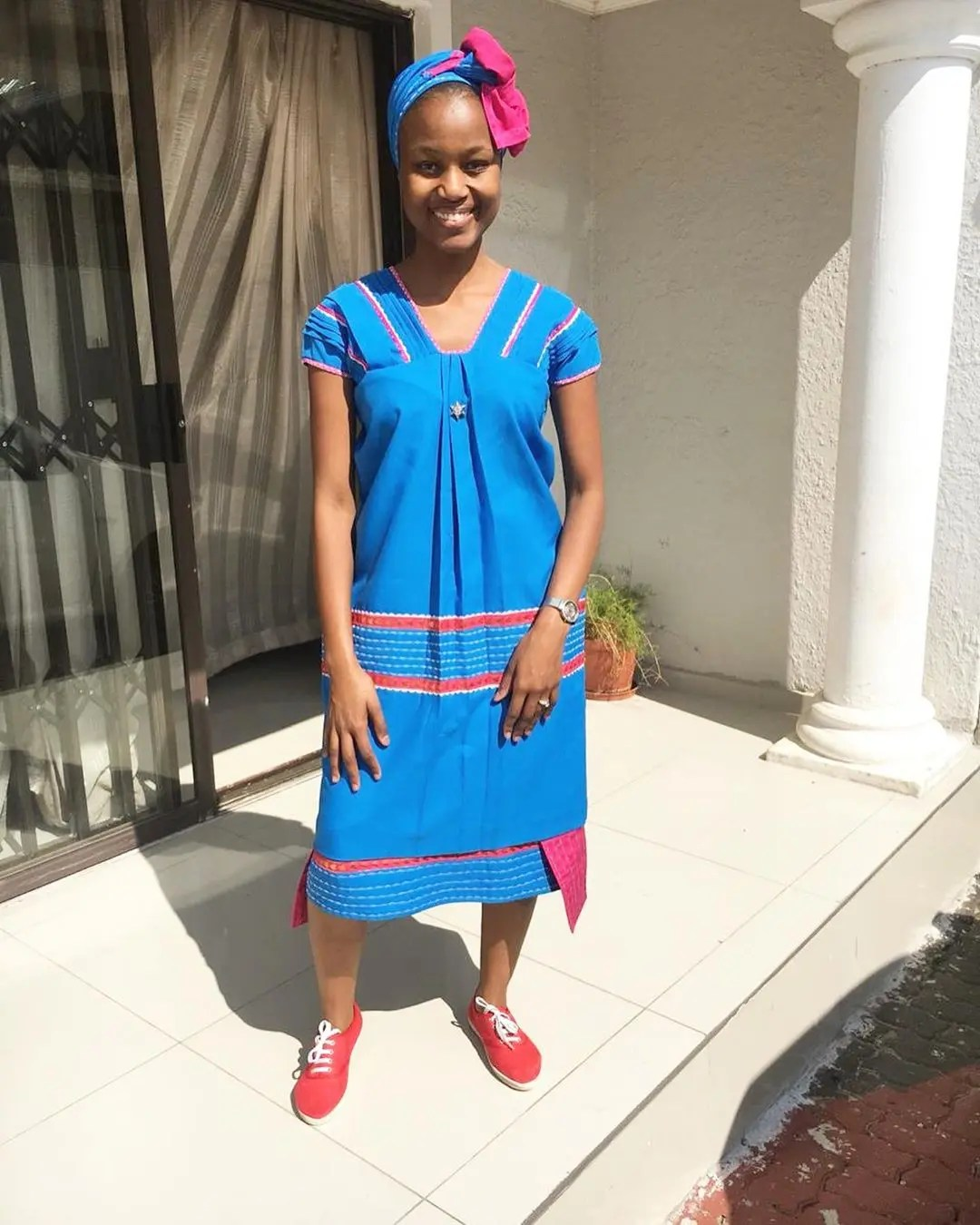 I'm Loving My Traditional Attire And It Looks Good On Me