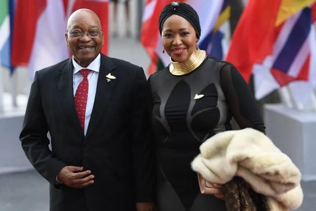 Jacob Zuma and wife Tobeka