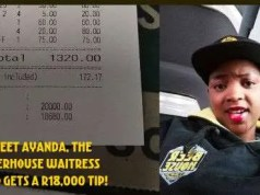 Waitress gets R18000 Tip