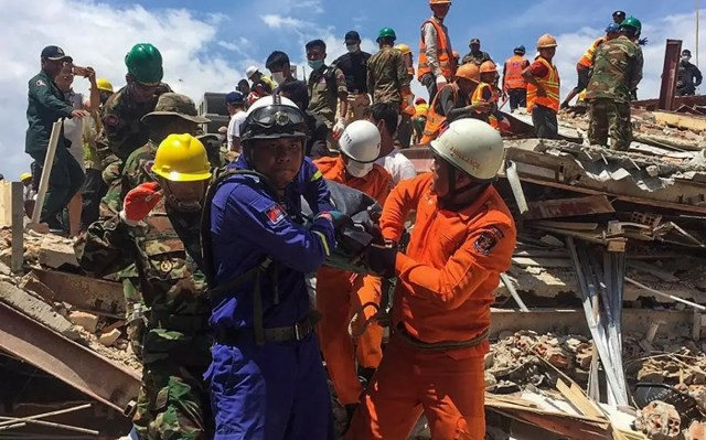 Cambodia building collapse