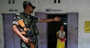 India political gun battle