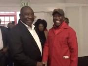 President Cyril Ramaphosa and Malema