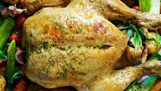 Roast chicken with tarragon