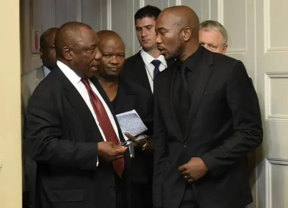 mmusi maimane and Ramaphosa