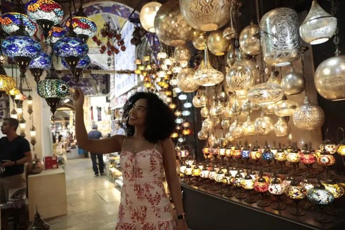 Amanda du Pont at the Grand Bazaar in Istanbul