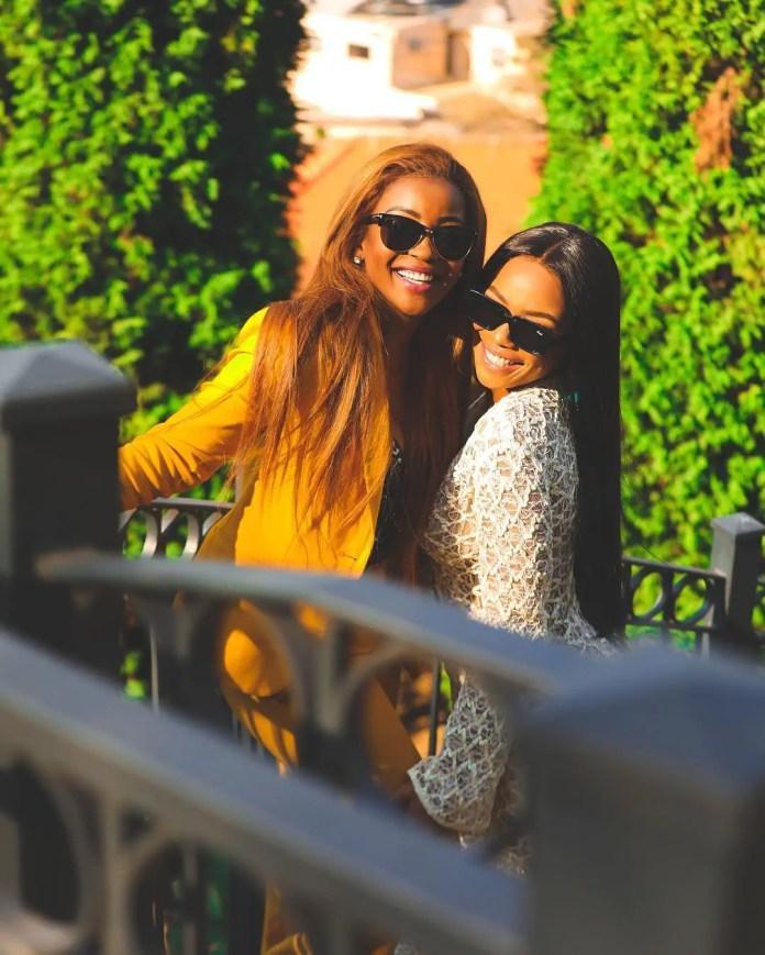 Bonang Matheba and Lorna Maseko