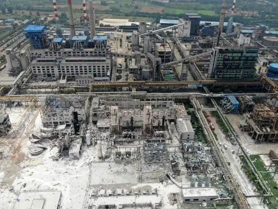 China gas plant blast
