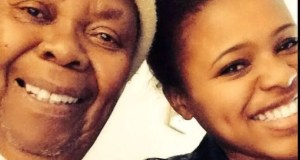Natasha Thahane and her great Gradma