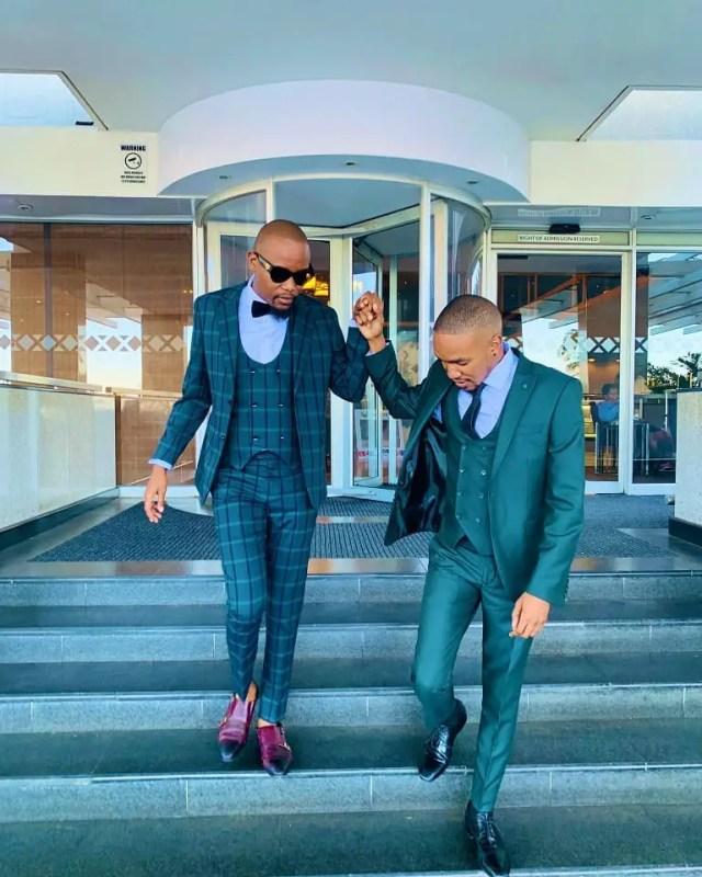 Phelo Bala & Moshe Ndiki at Vodacom Durban July