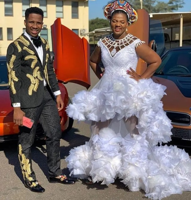 Sbahle Mpisane's mom & brother look amazing at Vodacom Durban July 2019