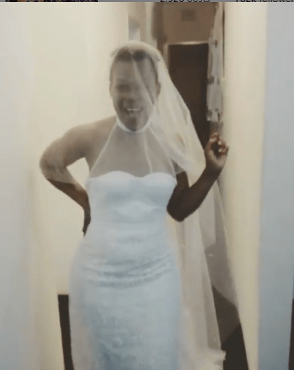Zodwa wabantu's Wedding dress