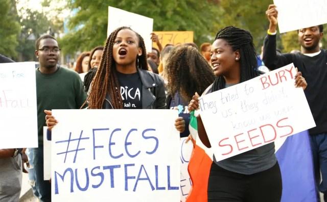 #FeesMustFall students