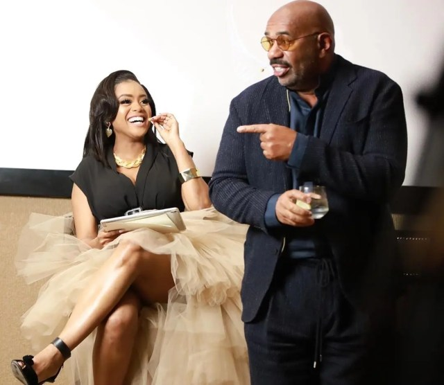 Lerato Kganyago and Steve Harvey