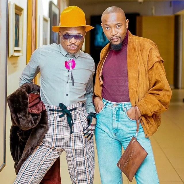 Moshe Ndiki and Somizi