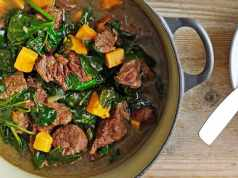 Pepperpot stew with dumplings
