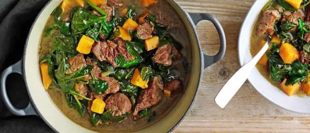 Pepperpot stew with dumplings