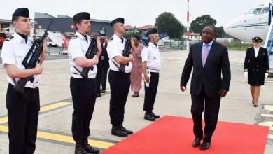 Ramaphosa arrives in France