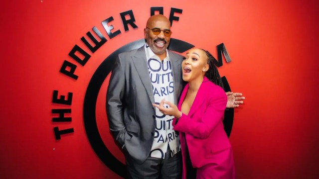 Steve Harvey and Thando Thabethe2
