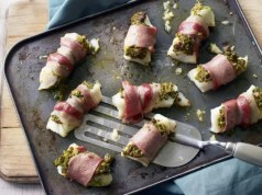 White fish and bacon parcels