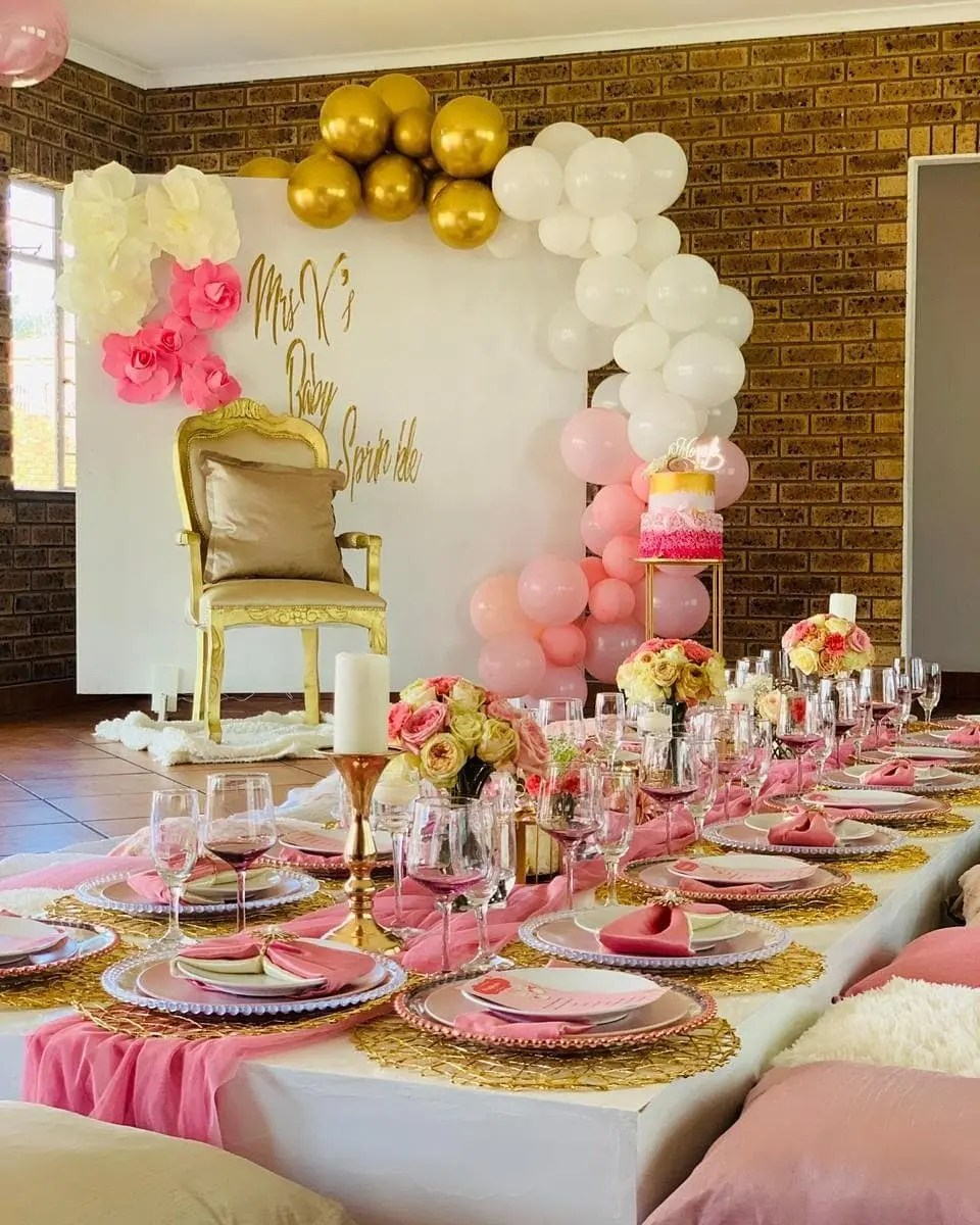 Baatile's pink-themed baby shower