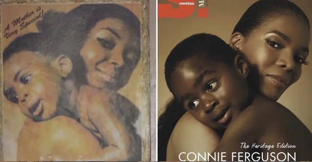 Connie Ferguson and her grandson