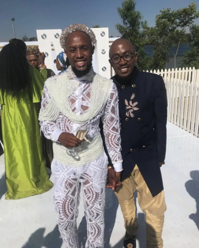 Mohale during traditional wedding