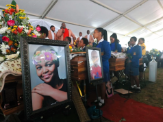 Mum buries her Four kids