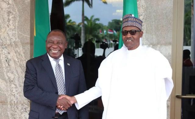 Muhammadu Buhari and Cyril Ramaphosa