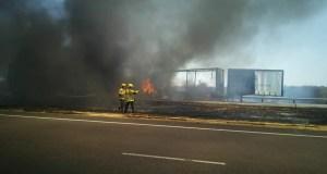 Multi-vehicle collision on N1