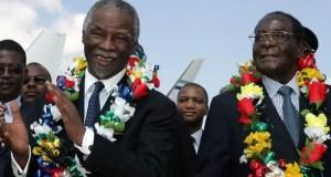 Thabo Mbeki and Robert Mugabe