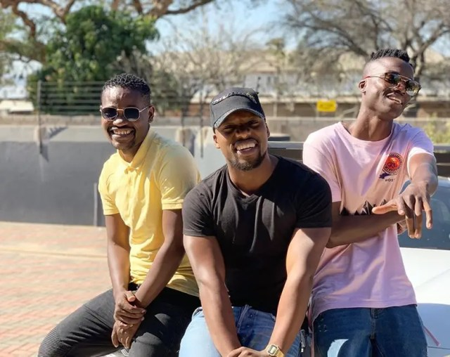 Clement Maosa with King Monada
