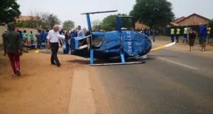 Helicopter crashes in Pretoria