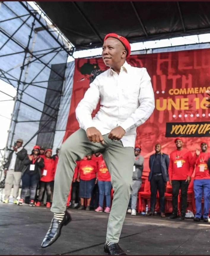 Julius Malema dancing