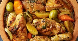 Moroccan rice mixed with chicken