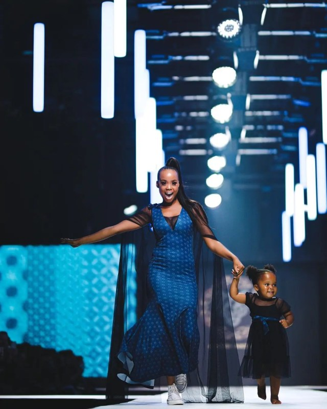 Ntando Duma and Sbahle on the runway