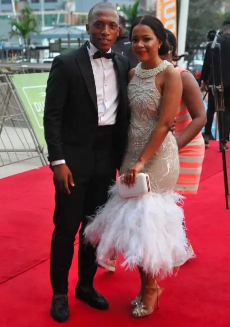Dumi Mkokstad and his wife Ziphozethu