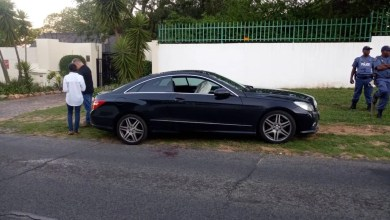 Photos of the road rage incident on Bryanston drive