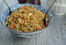 Spicy vegetarian egg fried rice
