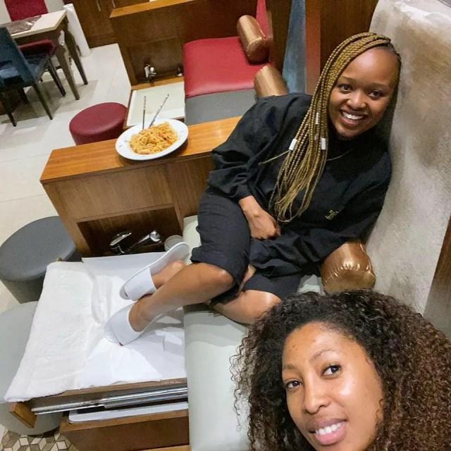 Enhle Mbali and Ntombi Mzolo