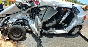 Four injured in Truck vs car crash