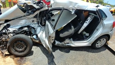 Four injured in Truck vs car crash
