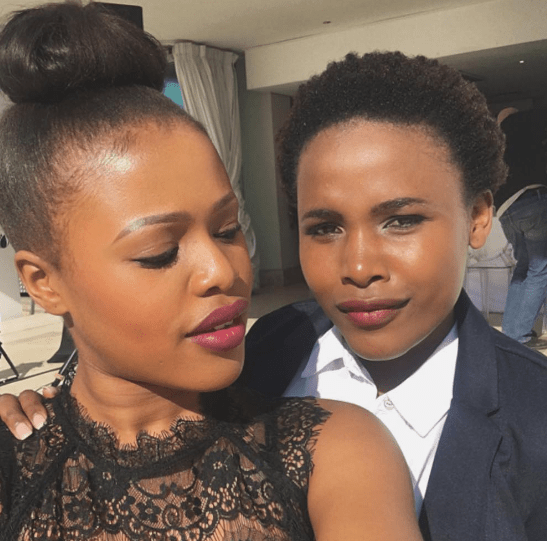Natasha Thahane and Pretty Ncayiyana