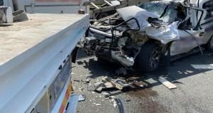 One injured in truck vs car crash