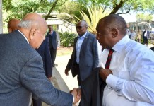 President Ramaphosa arrives for emergency Eskom meeting