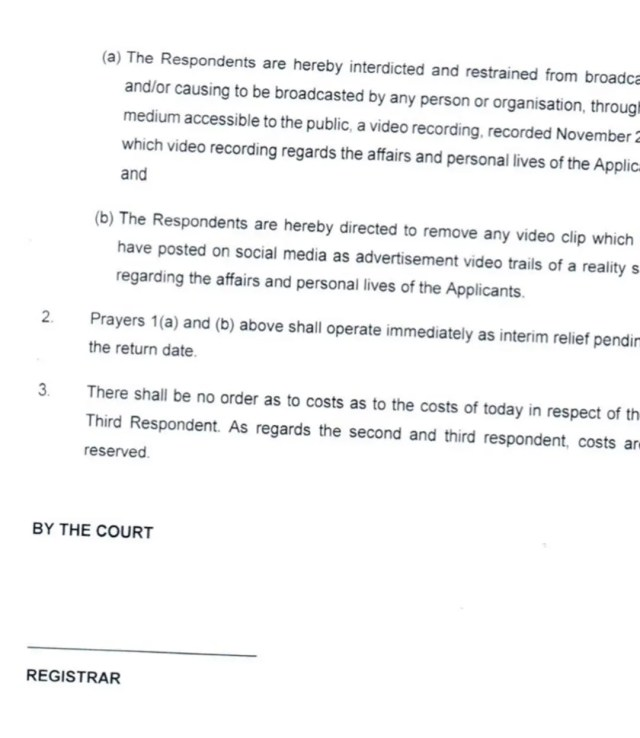 Babes Wodumo and Mampintsha granted a court interdict