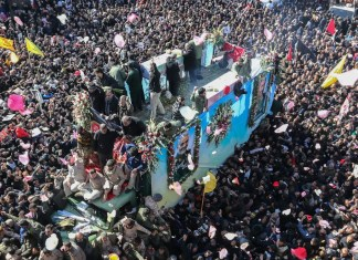 Iranian funeral stampede